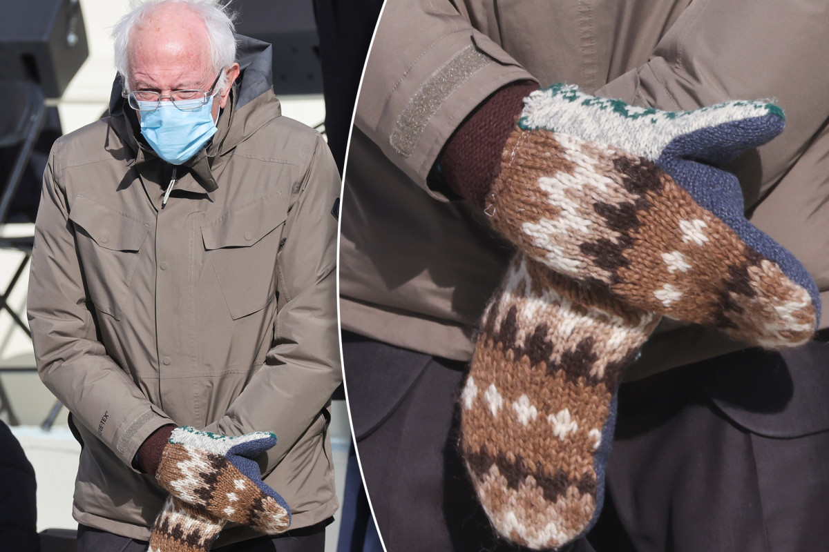 Replying to @nypost: 'One-of-a-kind' mittens Bernie Sanders wore at inauguration are not for sale