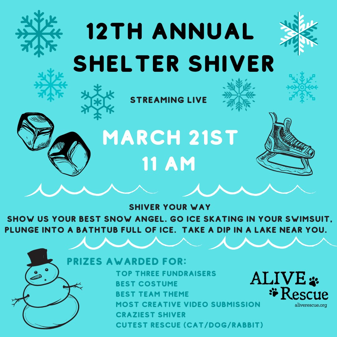 SHIVER YOUR WAY during our 12TH Annual Shelter Shiver. https://t.co/WEVOvHQNWo https://t.co/NysKKw7moo