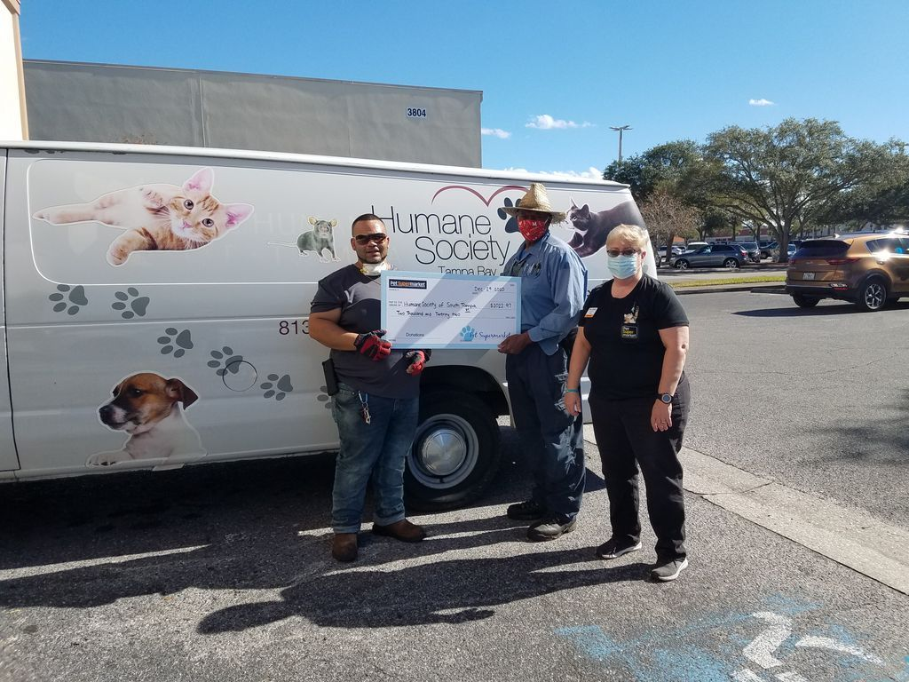 RT  RT @HumaneTampaBay: #ThankfulThursday shoutout to @petsupermarkets for their very generous donation. Thank you for making a difference for the homeless animals …