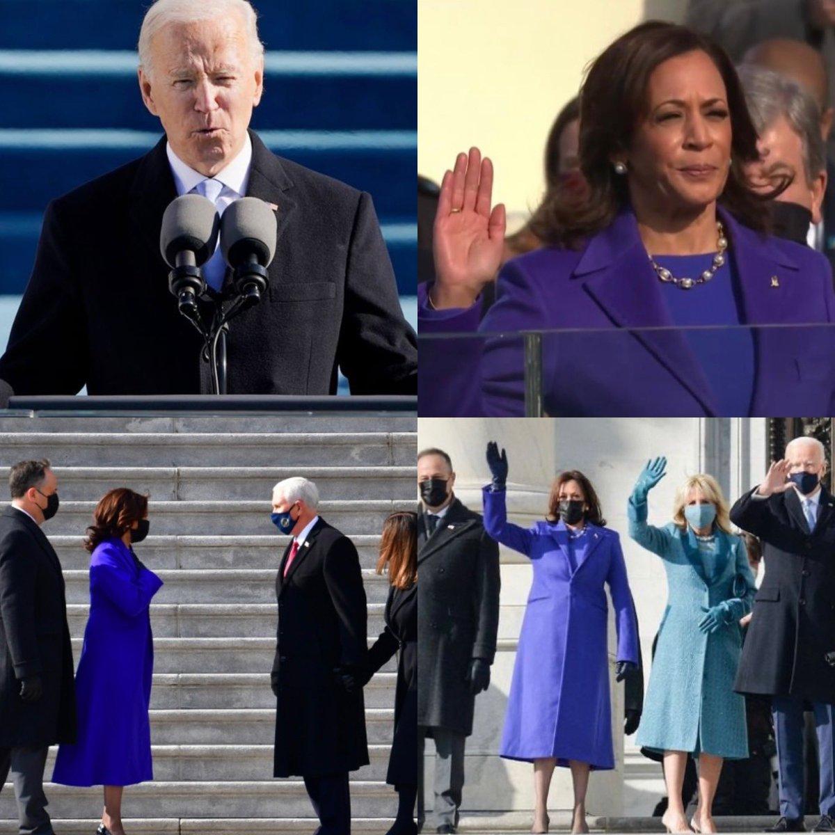 Aujourd'hui, l'Amérique se réveille avec à ses côtés, un nouveau Président et une nouvelle Vice-Présidente ! Un défi de taille les attend : réunir, rassembler et apaiser...  rendre confiance !  #USAElections2020 #investiture #BidenHarris #newday #newhope
