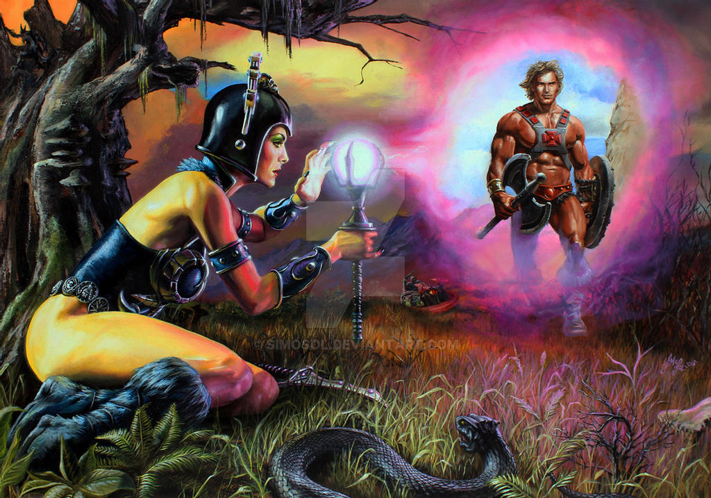 """""""Evil-lyn spying from the shadows"""" #heman #mastersoftheuniverse #art #illustration by #simosol"""