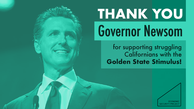 Thank you @CAGovernor for providing economic stimulus relief with the Golden State Stimulus. Direct payments are the fastest and most effective way to ensure an efficient and equitable recovery from COVID. #MoneyForThePeople