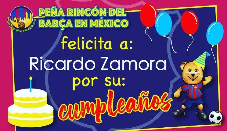 Peña Rincón del Barça a Felicita a Ricardo Zamora (Postumo), Miguel Reina y Ricardo Serna (@ricardoserna82 ) por su cumpleaños. Les mandamos un fuerte abrazo. #viscaelbarça #culers #culersathome #mesqueunclub #fcbarcelona