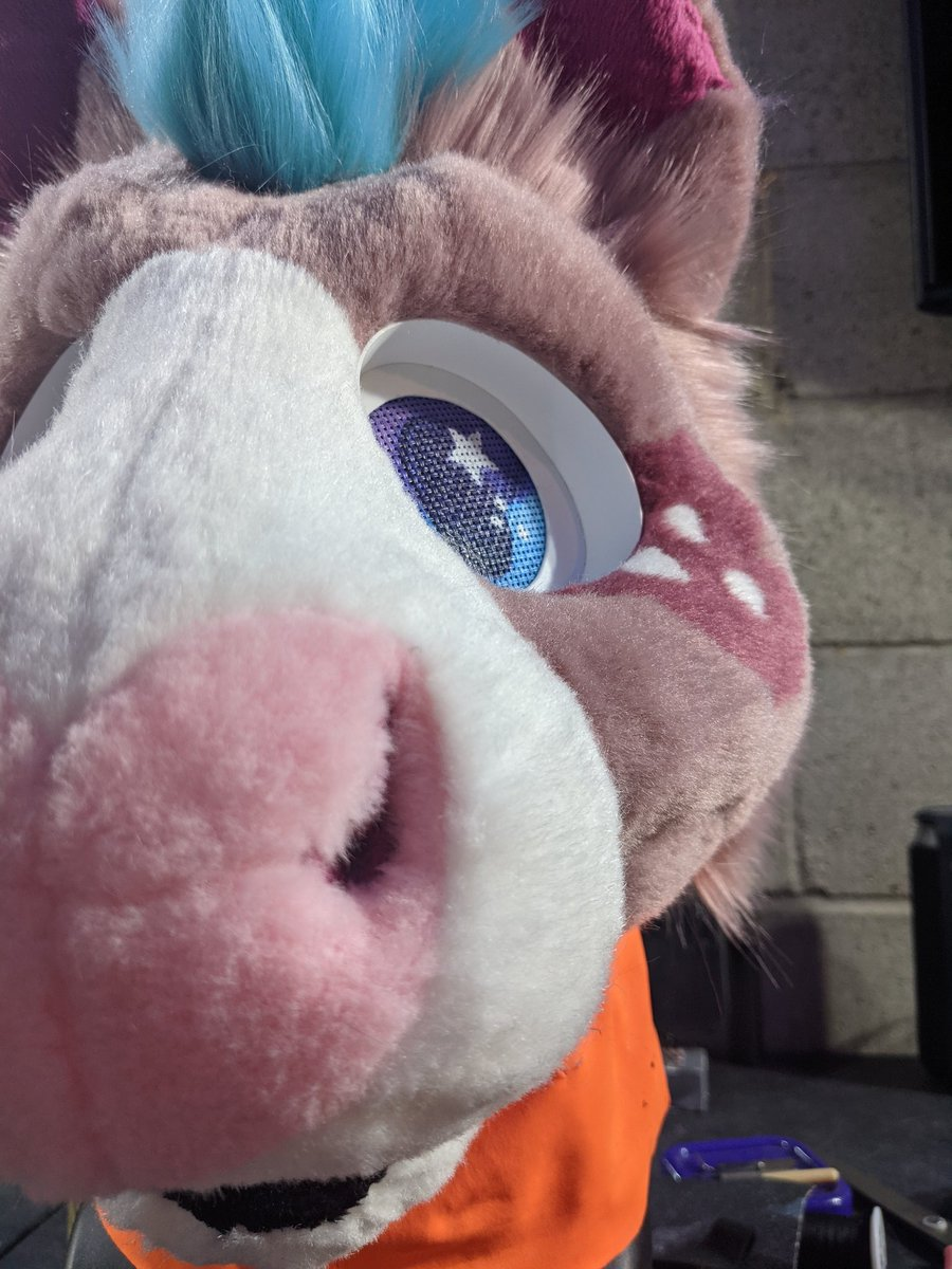 Premade horse got their eyes done and shaving all done ~  Someone is already claiming this and after it is finished I'll move onto the premade dutchie. #furry #fursuit #fursuitmaker #furryfandom #costume #artistsontwitter #handmade