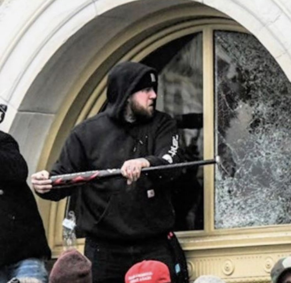 *Jorden Mink, a Pennsylvania man who was photographed shattering Capitol window with a bat, has been charged in riot. *He also was seen removing property from Capitol. *Faces multiple charges, incl. destruction of gov't property,  theft & violent entry.