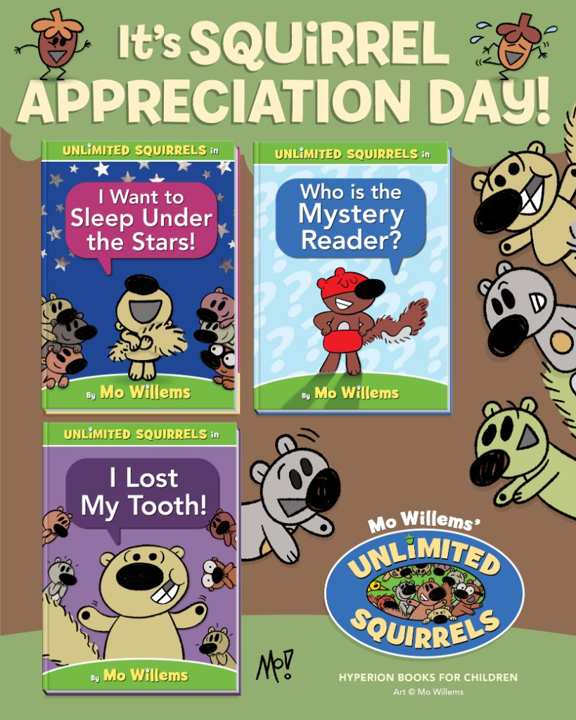 Read this Mo Willems series for unlimited fun on #SquirrelApprecationDay!