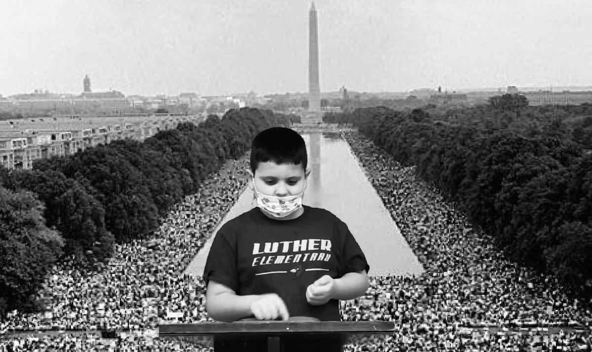 """Replying to @KatieDawson21: 4th & 5th Graders read """"I Have a Dream"""" speech, in honor of #MLK  using @DoInkTweets @LutherSchool #MarchOnWashington #doink #GreenScreenMagic click the link to watch! >>>   #doink #greenscreen #everyonecancreate"""