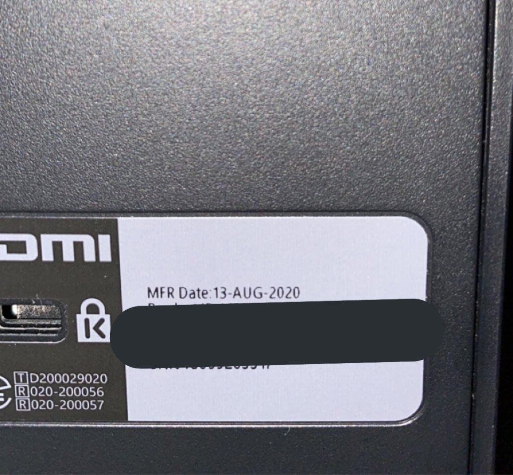 My Xbox Series X was born on: August 13, 2020