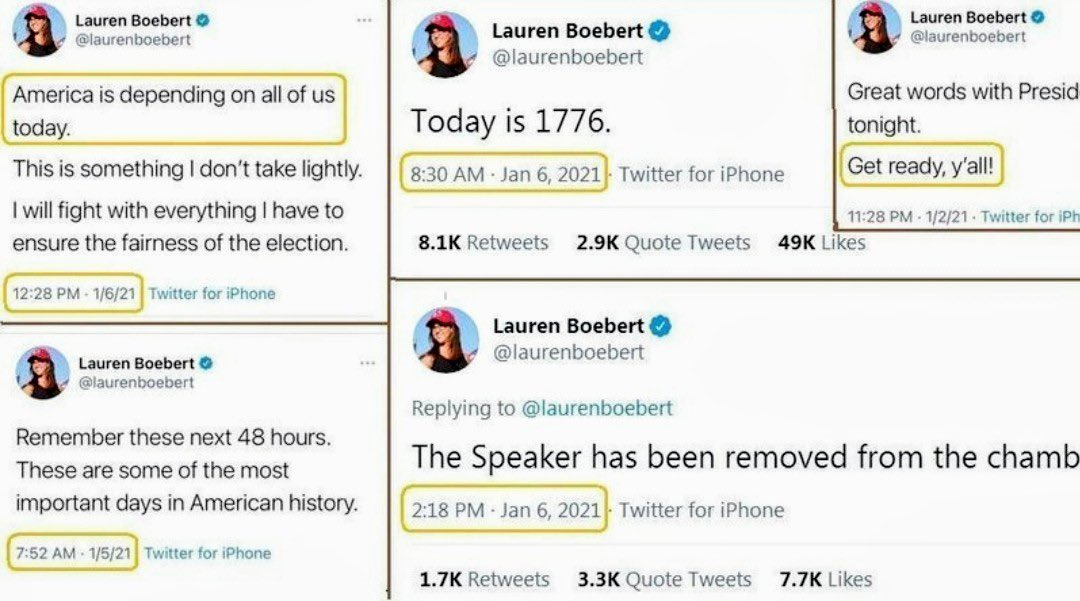 @laurenboebert Did you forget your words on that date? Let me help you remember. #TraitorsToDemocracy