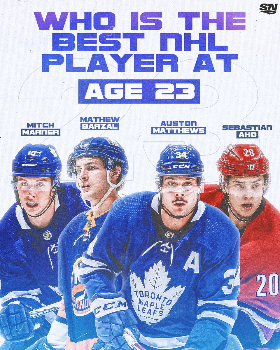Everybody likes you when you're 23. 👀  Who's your pick for the best player in the NHL at age 23? 🤩 #NHLonSN