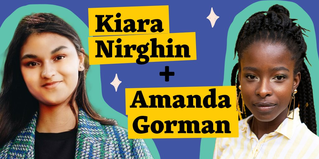 Inventor @KNirghin & inaugural poet @TheAmandaGorman join forces on our page to discuss all things women in STEAM — and you can help guide their conversation 🤩  Reply to this tweet with a question for Kiara and Amanda, and they'll pick a few to respond to next month! Ask away 💭