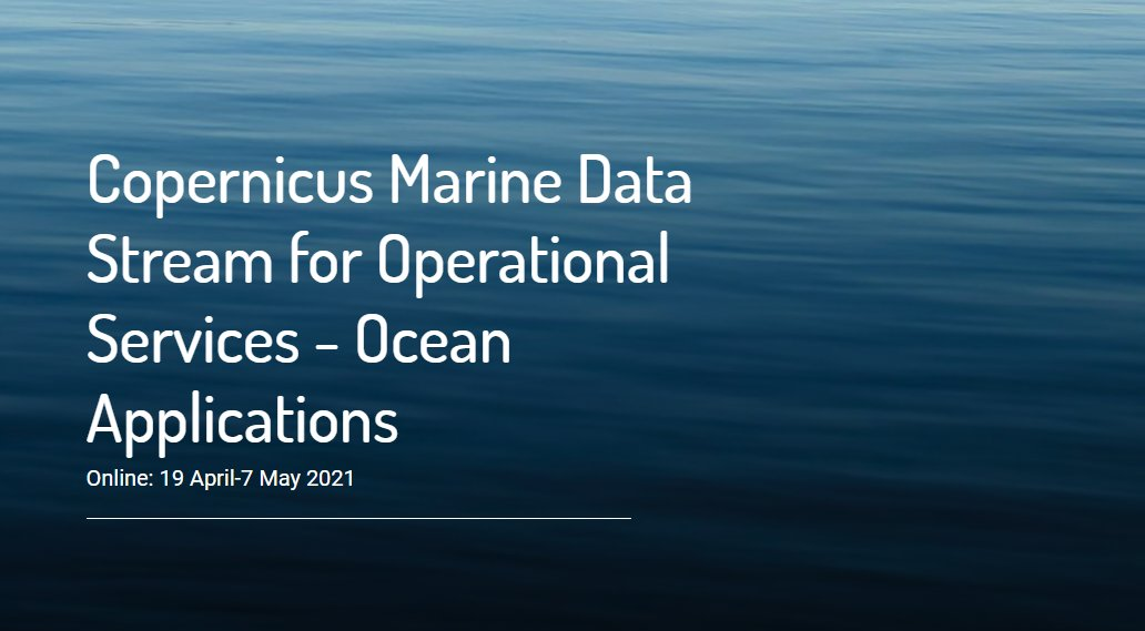 Want to access and process #Sentinel3 data for your marine workflows and applications?🛰️ Participate in the @eumetsat Copernicus Marine Data Stream (CMDS) training workshop! Happening online from 19 April to 7 May 2021🌊 ➡️Hurry up and register: bit.ly/3iGfPdn