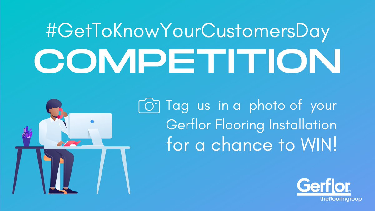 #GetToKnowYourCustomersDay - Tag us in a photo of your Gerflor flooring installation for a chance to win a £50 Amazon voucher! Whether you are a specifier, installer or end user all entries are welcome!