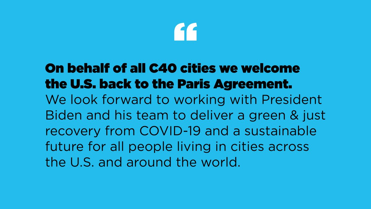 Together we can build #TheFutureWeWant. Our statement on the U.S. rejoining the #ParisAgreement    @POTUS @VP