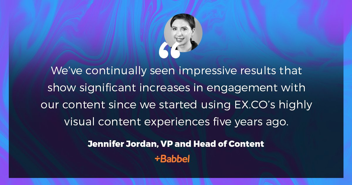 Interactive content created on the  Platform boosts audience engagement and delivers meaningful results. Content pro Jennifer Jordan at @BabbelUSA, leader in the online language learning industry, shares the success she's seen since choosing the platform.