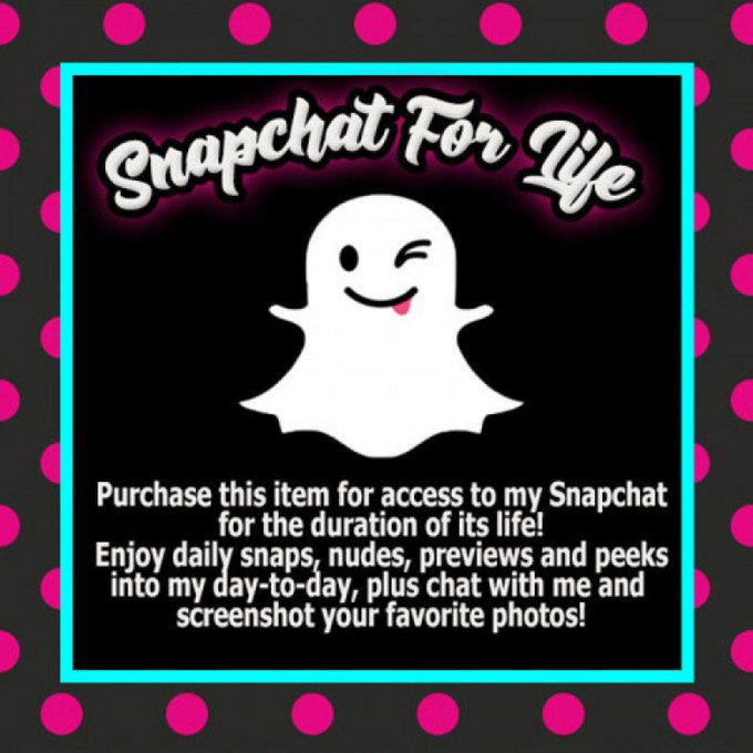 Did you know you can make a one-time payment of $25 and get access to my Premium snapchat for the duration