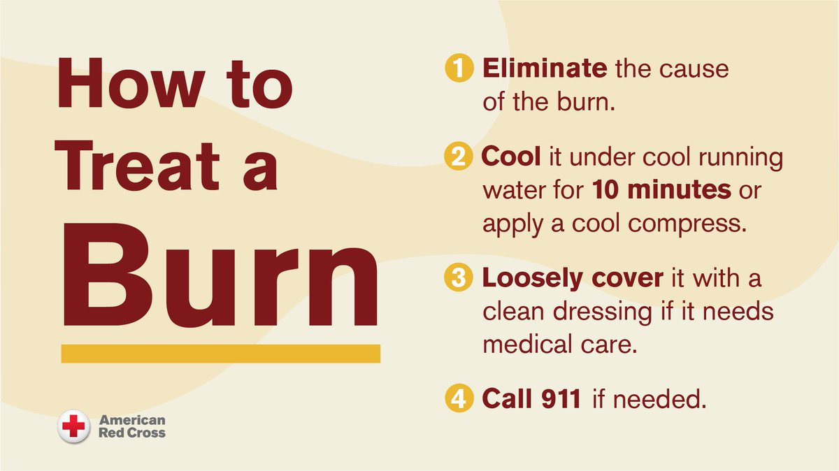 Should you cover a burn or let it breathe? Follow these steps to properly treat a burn ⬇️