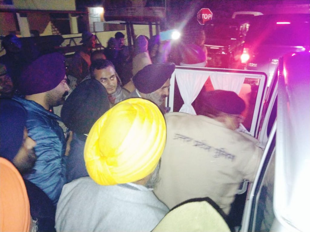 Farmers protest: DSGMC President Manjinder Singh Sirsa allegedly arrested by Uttar Pradesh police in Bilaspur, Pilibhit, on Thursday.