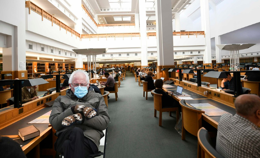 We're excited to have a VIP new reader on our books. Glad to see he's appropriately attired for the British Library reading rooms. https://t.co/7yU7MC6r8O