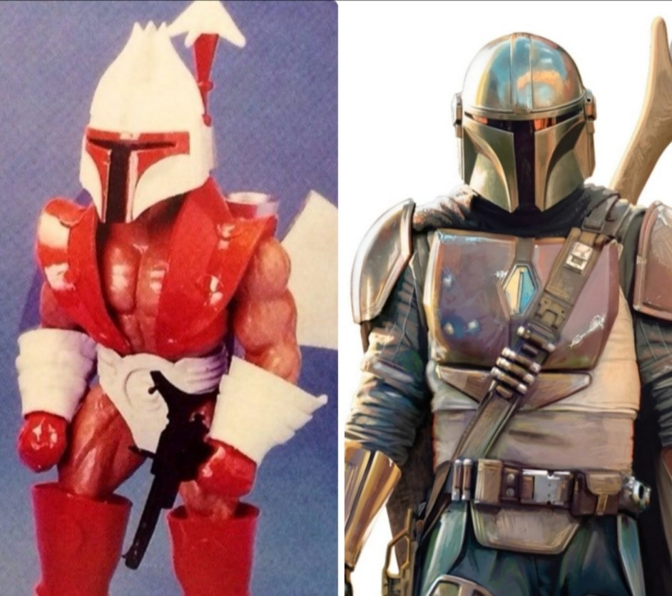 Is it only me or... is #Mandalorian a bit of a rip-off from He-Man's #BulletHead? 🤔  #mastersoftheuniverse #starwars