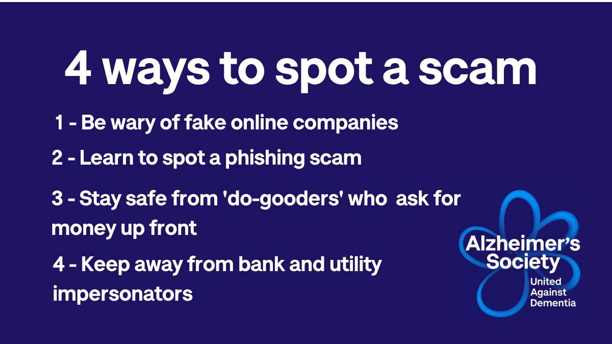 We all need to be aware of the scams that are springing up during the pandemic, but people with dementia may be more vulnerable to financial abuse than most.   We've got some top tips on how to avoid getting caught out by fraudsters. Read more at: