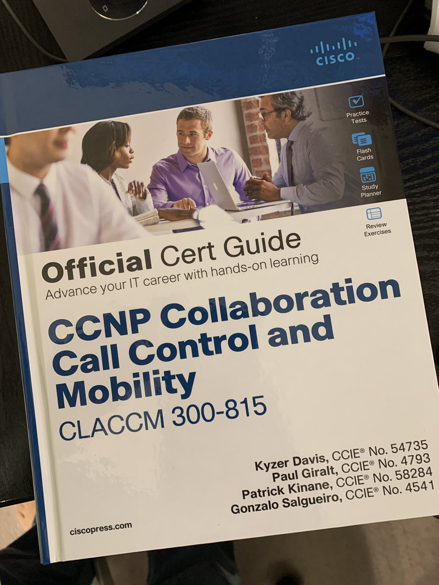 Congratulations to Patrick and team! Use code NEWCERT to save 35% on #CCNP Collaboration Call Control and Mobility CLACCM 300-815 Official Cert Guide  https://t.co/ofPCcbotre #CiscoCert