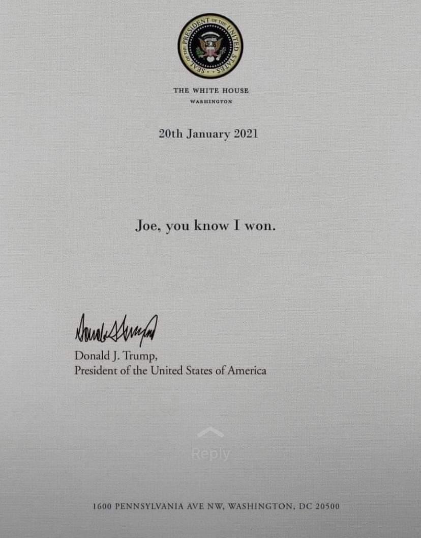 @JoeBiden @POTUS #JoeBiden  #USAElections2020  #DonaldTrum #WhiteHousePressBriefing #บุ๋มปนัดดา