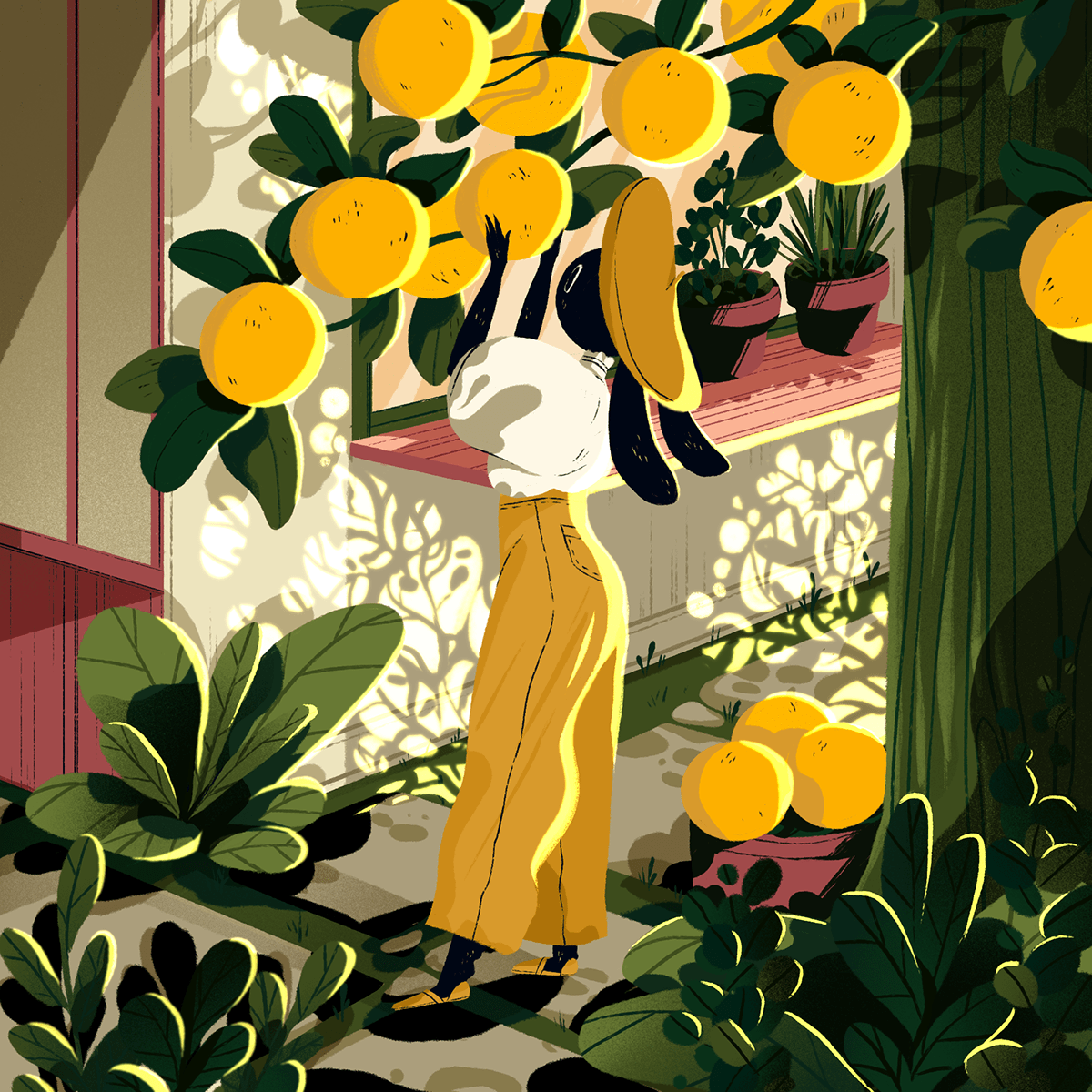 Jelena Hallmann-Haeschke tells the story of the adventures of two bunnies vacationing in the Mediterranean 🐰 — see more character illustrations >