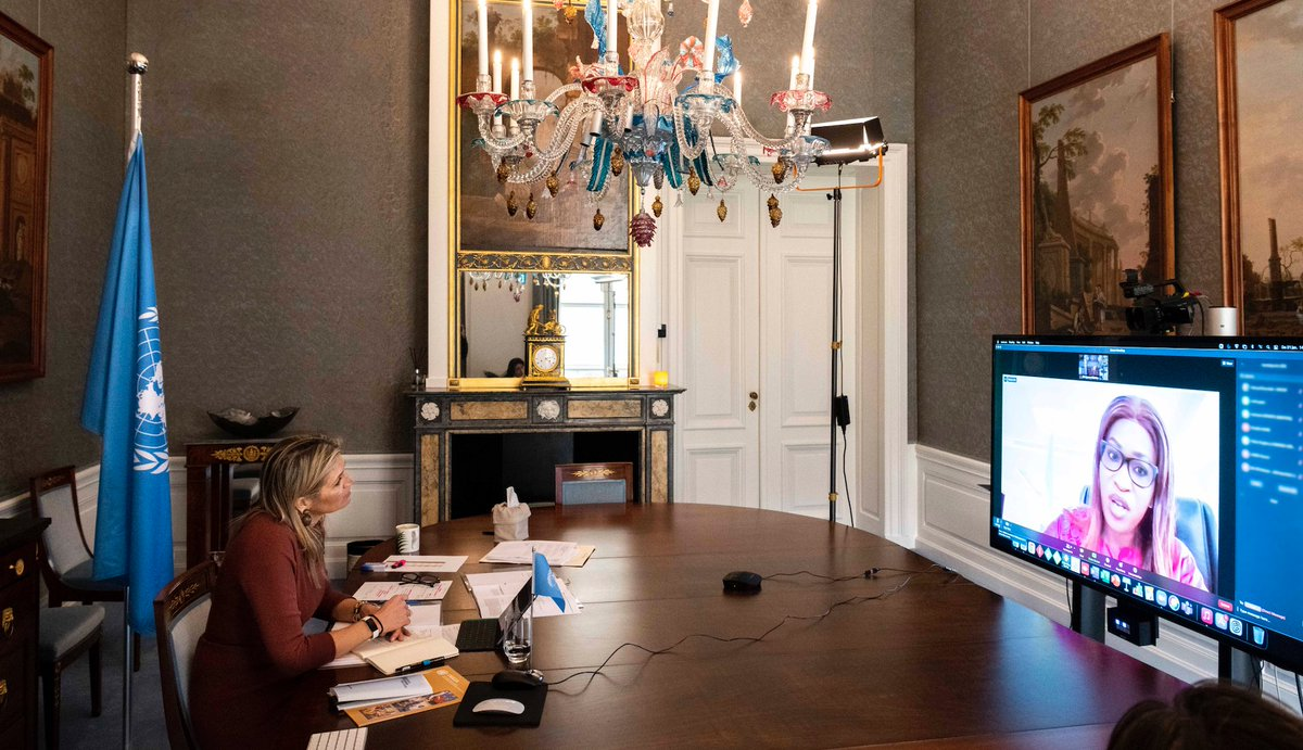 Discussions b/w #UNSGSA Queen Máxima & #Senegal's Minister for Microfinance and the Solidarity-Based Economy Zahra Iyane Thiam focused on #digital transformation of the #microfinance sector during today's virtual country visit meeting.  #financialinclusion