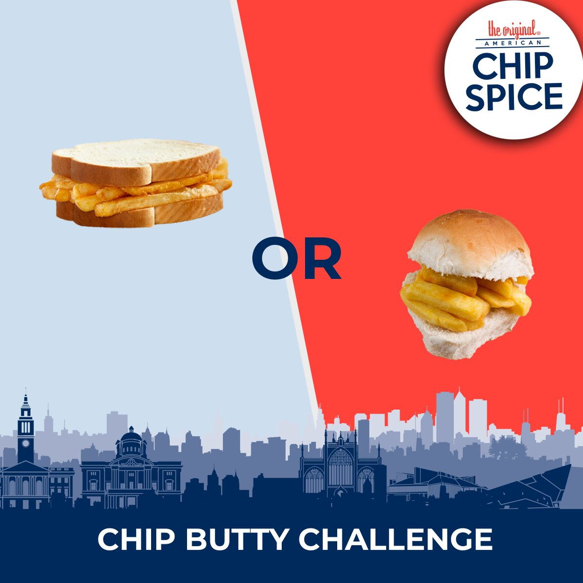 Let the battle of the bread commence! 💥 To make the BEST chip butty, do you go for the modest white sliced bread, or the fluffy round breadcake? Tell us in the comments...  #chipspice #chipspiceitup #americanchipspice  #Food #Yummy #Foodie  #Delicious #Hull #Classic #Instafood