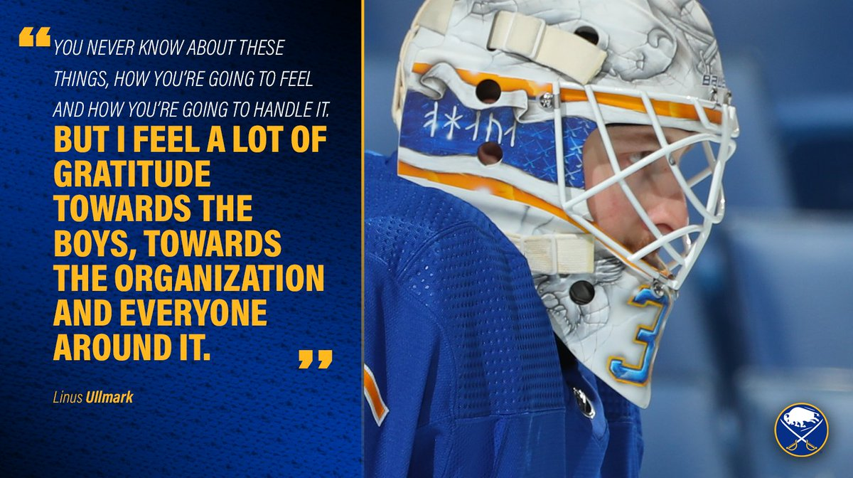 Linus Ullmark opens up about his absence from the past two Sabres games:
