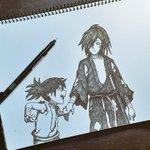 Image for the Tweet beginning: Dibujo en proceso #どろろ#dororo