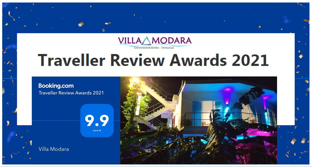 Time to work. Time to win. Time to celebrate. Time to be grateful to all of you!  #VillaModara, #Kahandamodara, #Tangalle, #SriLanka, #Award,#BestAward, #GoldenAward, #Prize, #TheBest, #Booking,#Feedbacks, #Reviews,  #Celebration, #Guests, #Owners, #TravellerReviewAwards2021