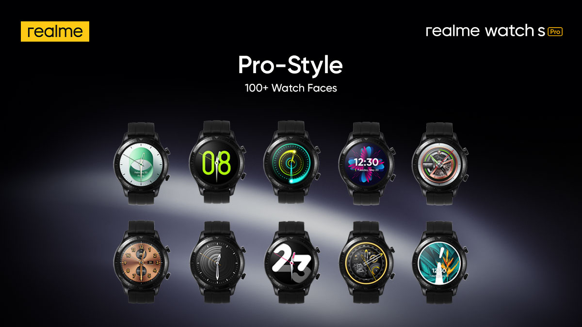 Go Pro-Style with #TheStylishNewPro! Choose your dial from more than 100+ Watch Faces of the super stylish #realmeWatchSPro.  Priced at ₹9,999. Available on  & @Flipkart. Know more: