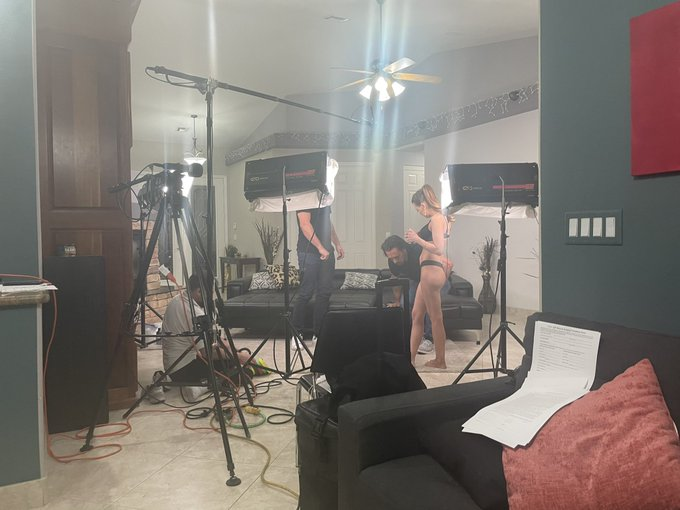 BTS from yesterday's shoot! I'm so excited for this one to be edited so we can post it. https://t.co