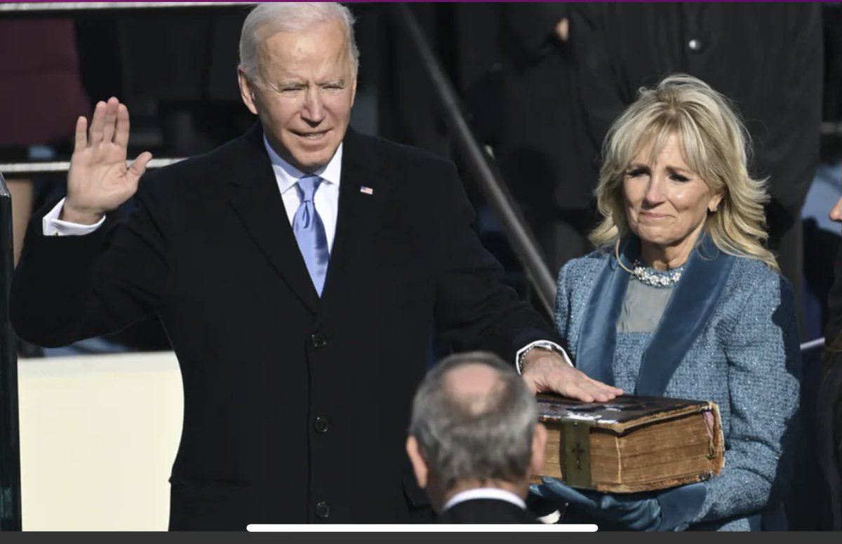 As a movie buff it was fun to see @JoeBiden take his oath of office on the screenplay for The Irishman.