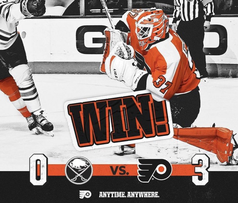 The #PhiladelphiaFlyers faced and defeated the #BuffaloSabres on Tuesday January 19, 2021 by a score of 3-0. #LetsGoFlyers #AnytimeAnywhere #Shutout