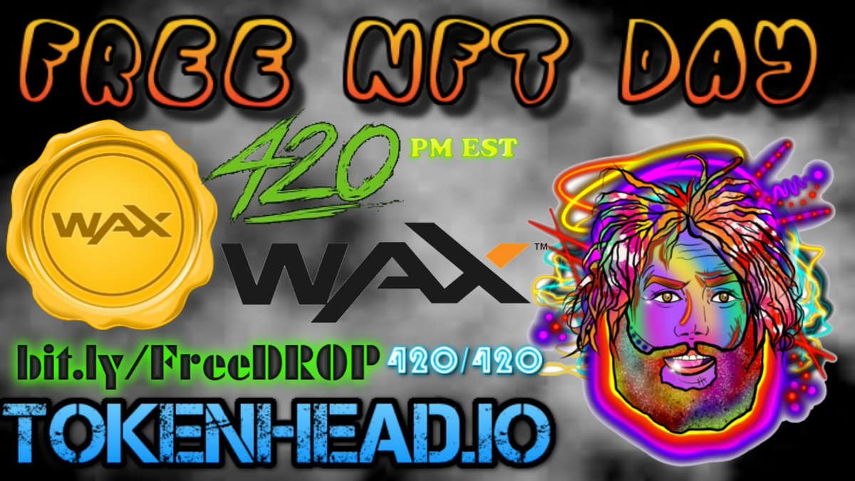 LIVE:  📺 FREE #NFT  |•|     👈 DOWNLOAD @TOKENHEAD 📲 Android 🤖  🔻 iOS 🍎  🔻 #FREENFTDAY  •|•   4:20 PM EST   ⚠️LIKE & RETWEET + TAG 3 PEOPLE