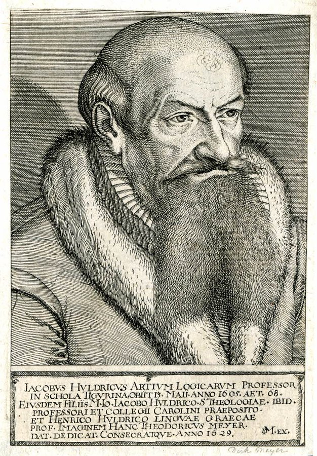 If you were going to invent a professor of Logic from late 16th century #Zurich, youd probably come up with Jakob Ulrichs look anyway (BM)