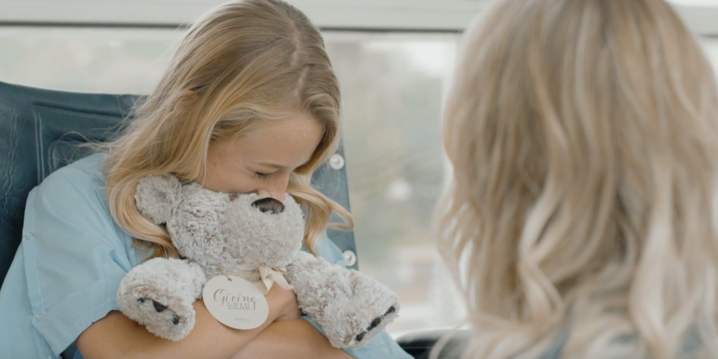 Handmade with love for the beary best hugs! 🧸 #NationalHuggingDay  Whenever someone needs a little comfort, a little safe, a little brave, let them know they're not alone by sharing a hug with our Giving Bear®: