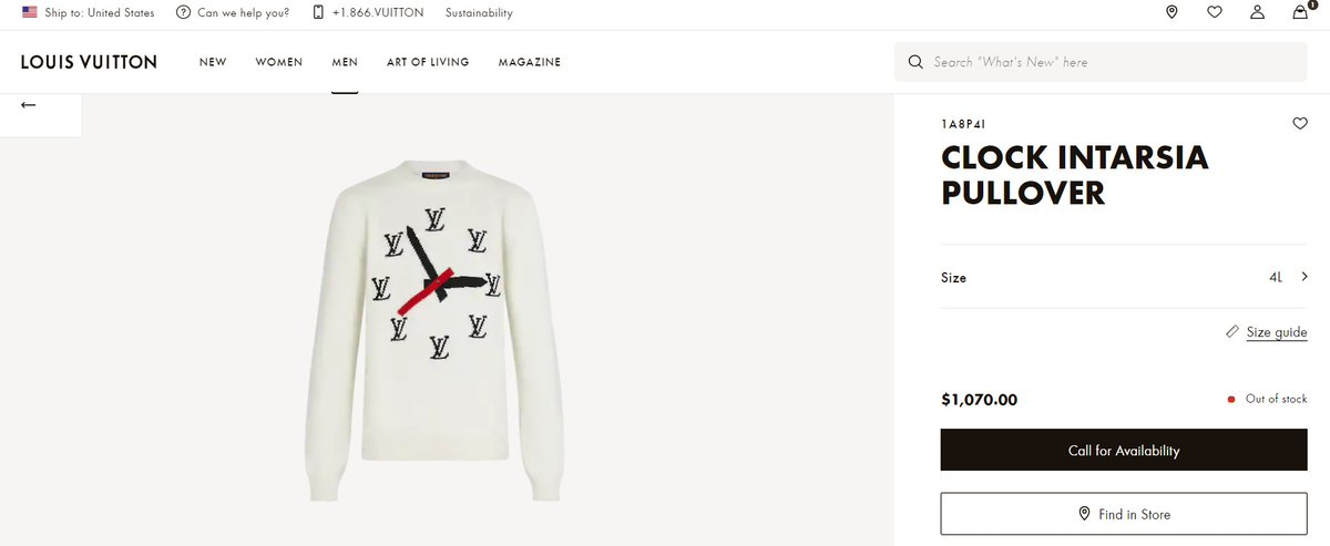 The Louis Intarsia Pullover sweater Jimin wore for #LVMenF21 BTS Invitation Video is sold out in the United States. Jimin is known to selling out expensive items like hotcakes 🐥  #JIMIN @BTS_twt