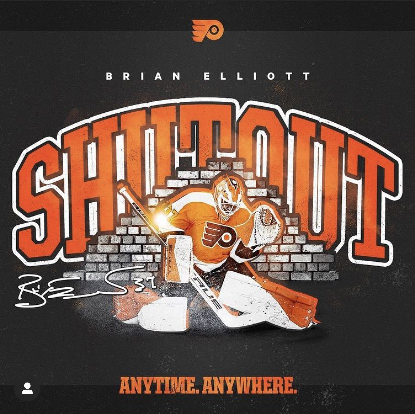 Brian Elliott was between the pipes for the #PhiladelphiaFlyers on Tuesday January 19, 2021 and defeated the #BuffaloSabres by a score of 3-0 to earn his first #Shutout of the 2020-21 NHL season. #LetsGoFlyers #AnytimeAnywhere
