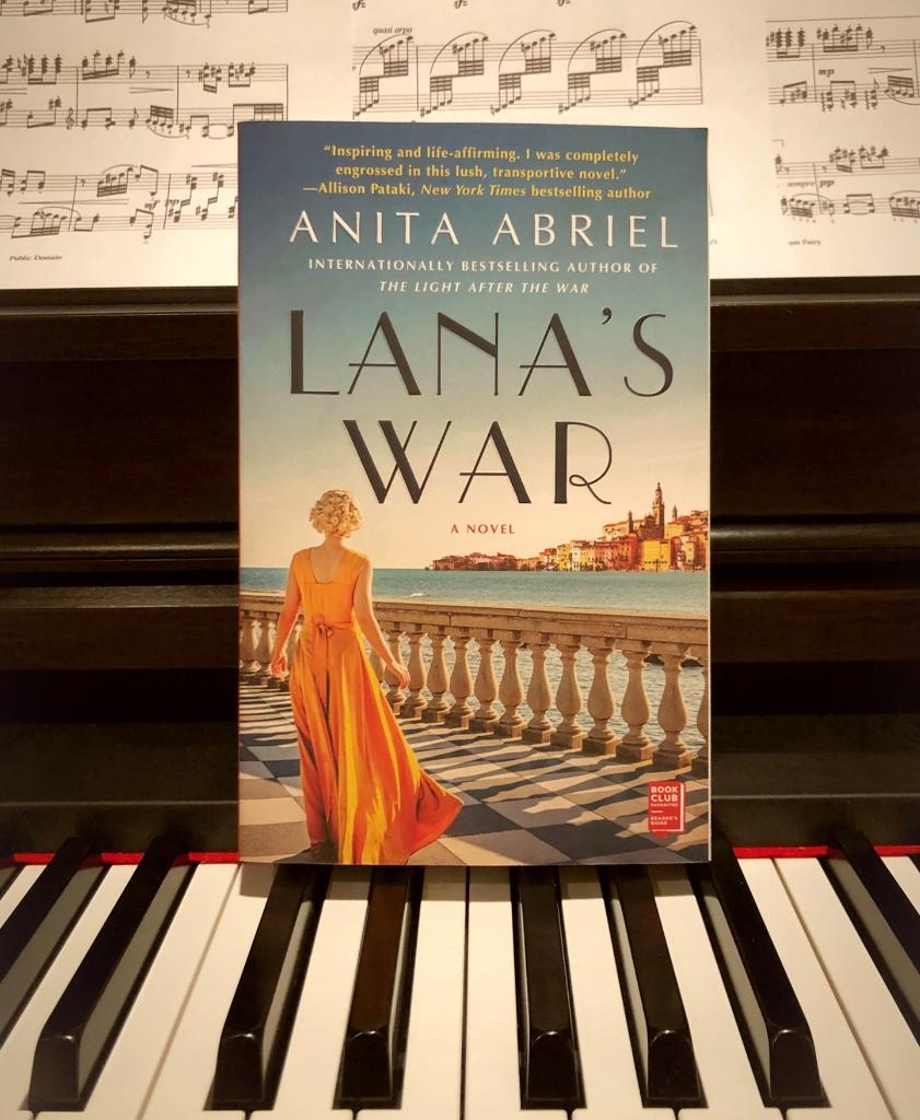 """""""A story of one woman's courage and resilience in a time of great darkness, Lana's War glitters as brightly as a Riviera gem. Perfect for fans of wartime historical fiction!"""" —Stephanie Marie Thornton  📖:   (📸 @AtriaBooks)"""