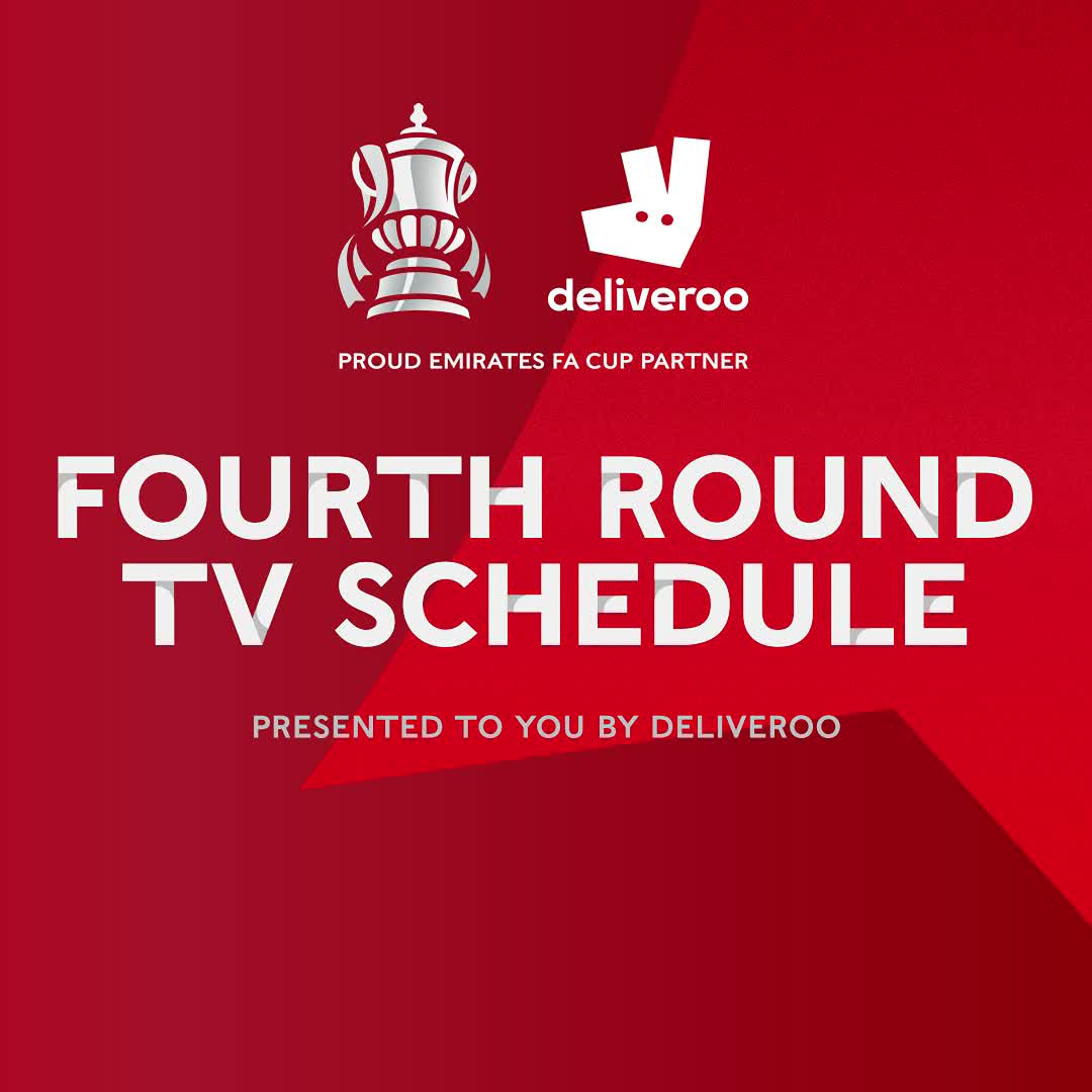 EVERY. GAME. IS. LIVE!  Here are your #EmiratesFACup fourth round TV picks, brought to you by @Deliveroo 🤩