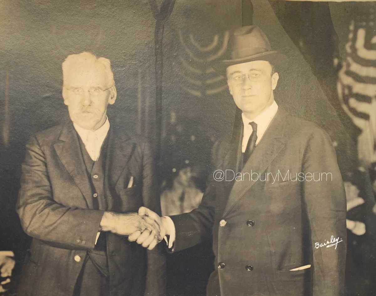 We also love this Sept 1920 image by local photographer of record, Frank H Baisley. Mr Roosevelt's hat seems perhaps not to have been properly fitted, but a great photo-op nonetheless. #HatPhoto #HatCityHistory