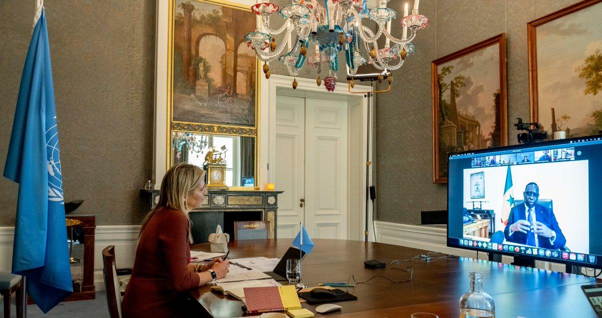 S.M. la Reine Máxima des Pays-Bas a conclu ce 21 janvier 2021 une visite virtuelle de trois jours au Sénégal en sa qualité d'avocate spéciale du SG de l'ONU🇺🇳 pour le financement inclusif du développement (@UNSGSA). 👉  #kebetu #financialinclusion #Senegal