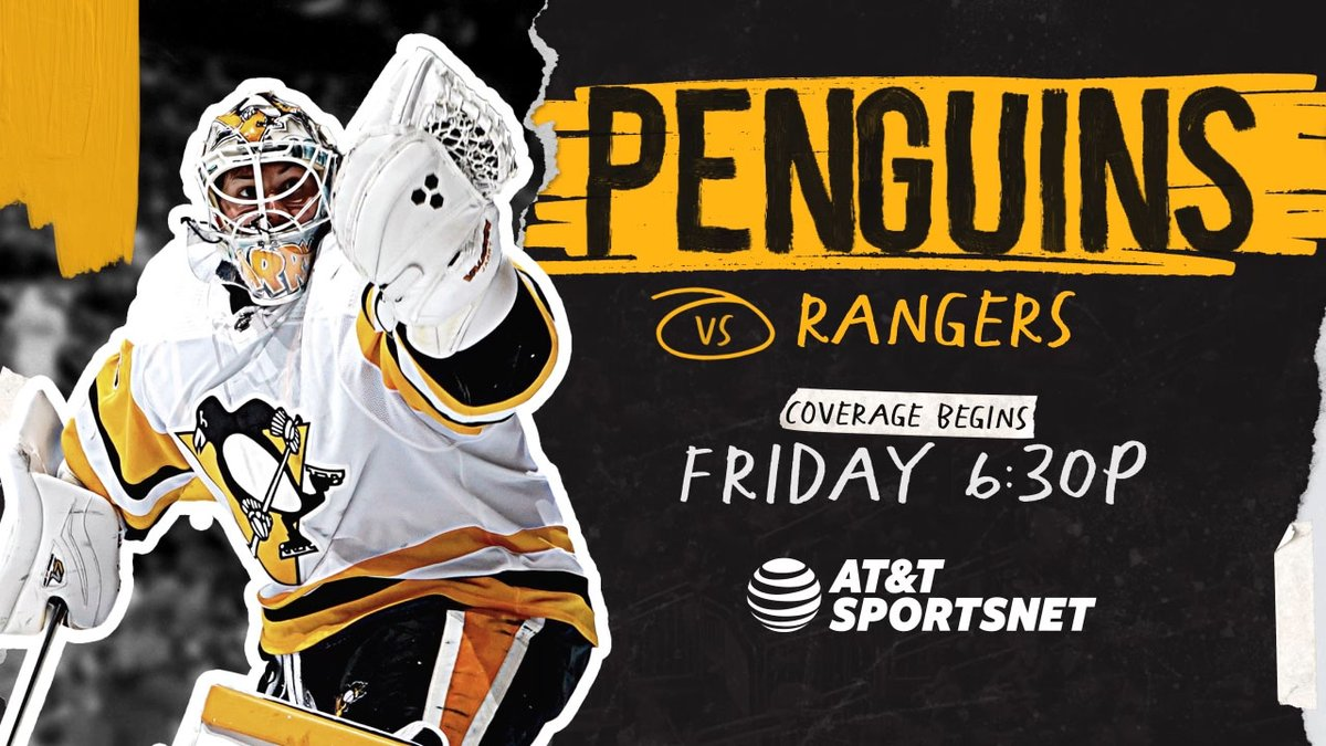 Two games for the Pens and Rangers this weekend! Coverage begins tomorrow at 6:30pm!  @penguins | #LetsGoPens