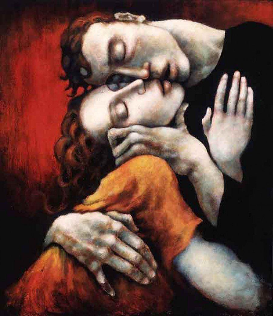 """""""Dice la tradición que cada vez que abrazamos de verdad a alguien, ganamos un día de vida"""".  #PauloCoelho  #Biblioteca #Almensilla #DíaInternacionalDelAbrazo #Pintura #Arte"""