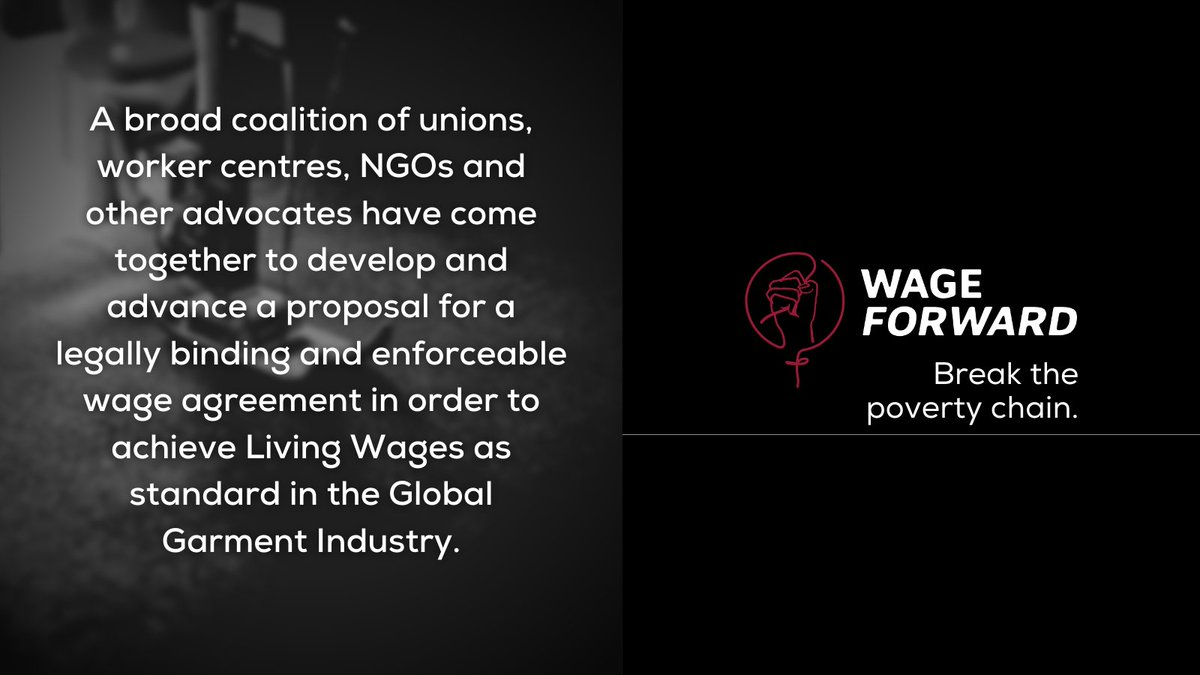 Yesterday, @asia_floorwage, @cleanclothes and @WSRNetwork launched , a website that sets out a concrete proposal for an enforceable, binding agreement between global brands and unions on the payment of #LivingWages to garment workers. #WageForward