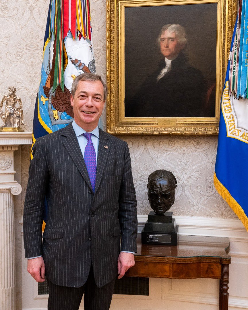 There are media reports that the bust of Winston Churchill has been removed from the Oval Office.  If true, this is a slap in the face to the British and any prospects of good relations.